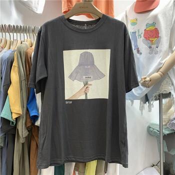 广州服装批发夏季T恤女士短袖批发男女T恤批发库存尾货清仓