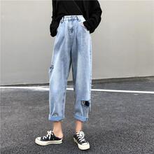 福建女士褲裝女士牛仔褲老爹褲雜款褲裝批發圖片