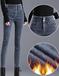 山西加厚女士牛仔褲冬季女士牛仔褲深色女士牛仔褲廠家批發