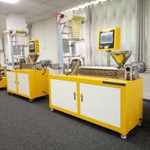 广东单螺杆XH-430B小型吹膜机、打样研发配色吹膜机图片