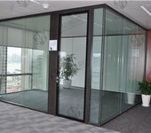成品办公室玻璃隔断装起来