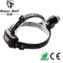 厂家批发led铝合金充电头灯大功率头戴灯户外探明远射强光头灯图片