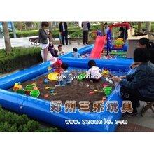 公园游乐儿童充气沙滩池小型项目