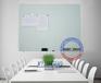 强磁性钢化玻璃白板90cm120cm可拼接挂式办公白板写字板
