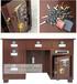 拉萨保险桌投币保险柜桌子钢制—土豪金6抽