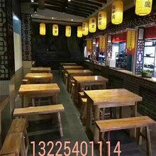 江蘇鹽城定做老榆木餐桌椅的廠家圖片