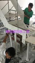专业安装调试网上购置的钢木楼梯实木楼梯