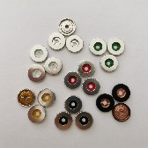 超薄款大白扣春裝秋裝外套用四合扣環保過檢針金屬銅四合扣