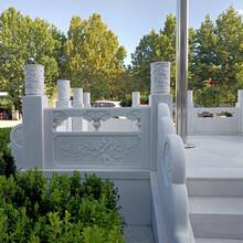 汉白玉栏杆批发基地-汉白玉石栏杆价格咨询到曲阳县石隆石雕图片
