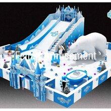 广西商场火爆室内乐园冰雪大滑梯仿真雪滑雪大滑梯百万球场升级版图片